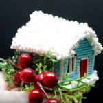 Рождественский домик из бумаги - мастер-класс