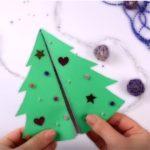 Ёлочка с подарками - 3D открытка